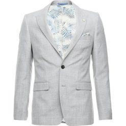 Marynarki męskie slim fit: Burton Menswear London NEUT CHECK Marynarka garniturowa grey
