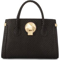 Torebki klasyczne damskie: Skórzana torebka w kolorze czarnym – 28 x 20 x 13 cm