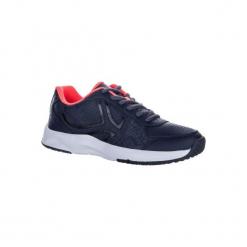 Buty tenisowe TS160 damskie. Szare buty do tenisu damskie marki ARTENGO, z kauczuku. W wyprzedaży za 79,99 zł.