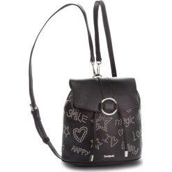 Plecak DESIGUAL - 18WAXPC0 2000. Czarne plecaki damskie marki Desigual, ze skóry ekologicznej, eleganckie. W wyprzedaży za 209,00 zł.