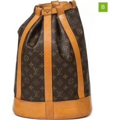 """Plecak """"Randonnee PM"""" w kolorze brązowym - 28 x 38 x 16 cm. Brązowe plecaki męskie Louis Vuitton Vintage, z materiału. W wyprzedaży za 3248,95 zł."""
