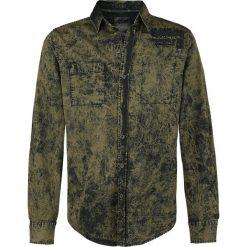 Rock Rebel by EMP There Is No Business Like Rock Business Koszula oliwkowy. Czarne koszule męskie na spinki marki Leonardo Carbone, s, z materiału, z długim rękawem. Za 114,90 zł.