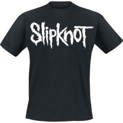 Slipknot White Logo T-Shirt czarny. Czarne t-shirty męskie z nadrukiem marki Slipknot, m, z kapturem. Za 62,90 zł.