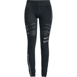 Chemical Black Inka Leggings Legginsy czarny. Czarne legginsy Chemical Black, xl, w ażurowe wzory, z materiału. Za 164,90 zł.