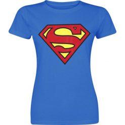 Superman Logo Koszulka damska niebieski. Niebieskie bluzki z odkrytymi ramionami Superman, m, z motywem z bajki. Za 74,90 zł.