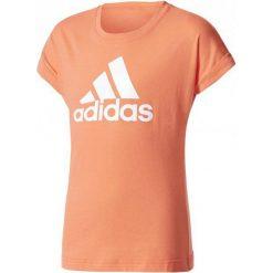 Adidas Koszulka Dziewczęca Yg Logo Tee Easy Coral/White 140. Białe bluzki dziewczęce bawełniane Adidas, z klasycznym kołnierzykiem. W wyprzedaży za 59,00 zł.