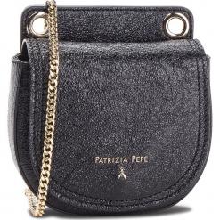 Torebka PATRIZIA PEPE - 2V6720/AA94-K348  Black Metallic. Czarne torebki klasyczne damskie marki Patrizia Pepe, ze skóry. W wyprzedaży za 589,00 zł.