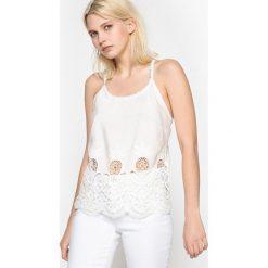 Bluzki asymetryczne: Bluzeczka gładka na cienkich ramiączkach