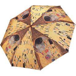 """Parasole: Parasol """"Gustav Klimt – The Kiss"""" w kolorze żółto-brązowym"""