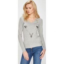 Guess Jeans - Sweter. Szare swetry klasyczne damskie Guess Jeans, l, z dzianiny. Za 319,90 zł.
