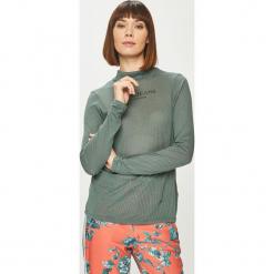 Pepe Jeans - Bluzka. Szare bluzki z golfem Pepe Jeans, l, z nadrukiem, z bawełny. Za 139,90 zł.