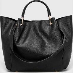 Parfois - Torebka. Czarne shopper bag damskie Parfois, z materiału, na ramię, duże. Za 139,90 zł.