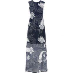 """Długie sukienki: Długa sukienka szyfonowa bonprix ciemnoniebieski """"paisley"""""""