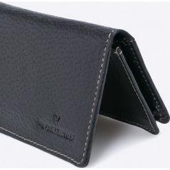VIP COLLECTION - Portfel skórzany. Czarne portfele męskie marki VIP COLLECTION, z materiału. W wyprzedaży za 24,90 zł.