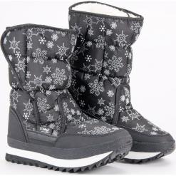 CIEPŁE ZIMOWE ŚNIEGOWCE. Czarne buty zimowe damskie Merg. Za 127,90 zł.
