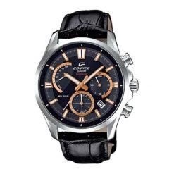 """Zegarek """"EFB-550L-1AVUER"""" w kolorze czarno-srebrnym. Czarne, analogowe zegarki męskie Lacoste, srebrne. W wyprzedaży za 629,95 zł."""