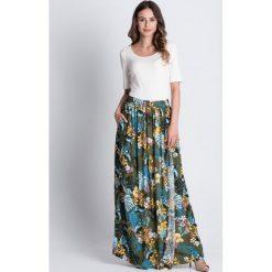 Długie spódnice: Spódnica maxi w kwiaty BIALCON