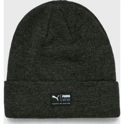 Puma - Czapka. Czarne czapki zimowe męskie Puma, z dzianiny. W wyprzedaży za 79,90 zł.
