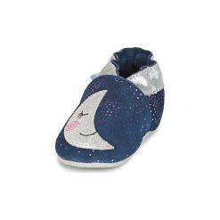 Kapcie niemowlęce Dziecko  Robeez  MOON LIGHT. Niebieskie kapcie dziewczęce marki Robeez. Za 159,00 zł.