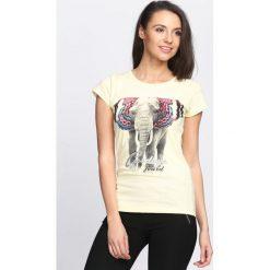 Bluzki, topy, tuniki: Żółty T-shirt Baby Elephant