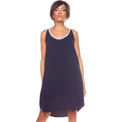"""Sukienki hiszpanki: Sukienka """"Kia"""" w kolorze granatowym"""