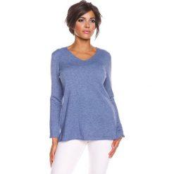 """Odzież damska: Sweter """"Jill"""" w kolorze niebieskim"""