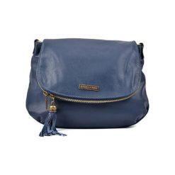 Torebki klasyczne damskie: Skórzana torebka w kolorze niebieskim – (S)26 x (W)30 x (G)6 cm