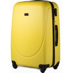ŚREDNIA WALIZKA PODRÓŻNA M SOLIER ABS ŻÓŁTY. Żółte walizki marki Solier, w paski, z gumy, średnie. Za 159,00 zł.