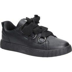 Czarne buty sportowe creepersy na platformie sznurowane Casu AB-67. Czarne buty sportowe damskie marki Casu. Za 69,99 zł.