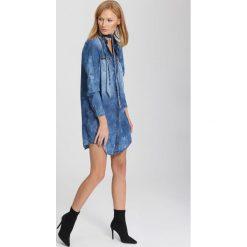 Sukienki: Niebieska Sukienka Silver Moon
