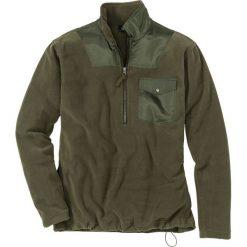 Bluza z polaru z zamkiem Regular Fit bonprix ciemnooliwkowy. Czarne bluzy męskie rozpinane marki Cropp, l, z polaru, z kapturem. Za 59,99 zł.