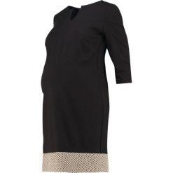 Sukienki: Madderson CAMILLA Sukienka z dżerseju black/gold