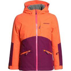 Ziener AMIGE JUN  Kurtka snowboardowa plumberry. Pomarańczowe kurtki dziewczęce sportowe Ziener, z materiału, narciarskie. W wyprzedaży za 455,20 zł.