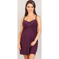 Koszula nocna dla ciężarnych i karmiących Vedette. Różowe koszule nocne i halki Astratex, w koronkowe wzory, z koronki, moda ciążowa. Za 137,99 zł.