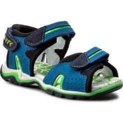 Sandały BARTEK - 16185-107 Niebieski. Czarne sandały męskie skórzane Bartek. W wyprzedaży za 189,00 zł.