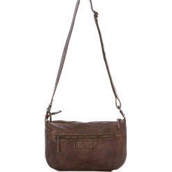 Torebki klasyczne damskie: Skórzana torebka w kolorze brązowym – 26 x 21 x 9 cm