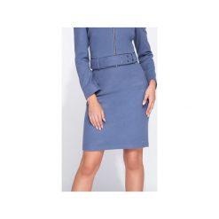 Spódnica olówkowa na wysoki stan. Niebieskie spódnice wieczorowe Bien fashion, s, z podwyższonym stanem, midi, ołówkowe. Za 119,00 zł.