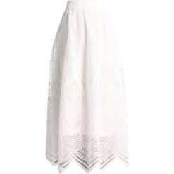 Desigual LYON FRANCE Długa spódnica white. Białe długie spódnice Desigual, z materiału. W wyprzedaży za 359,20 zł.