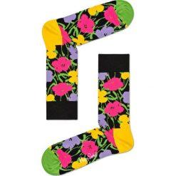 Happy Socks - Skarpetki Andy Warhol Flower. Brązowe skarpetki damskie Happy Socks, z bawełny. Za 49,90 zł.