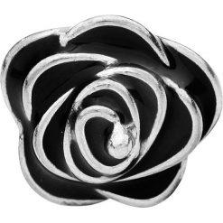 Kolczyki damskie: Black Rose Kolczyki – Earpin srebrny/czarny