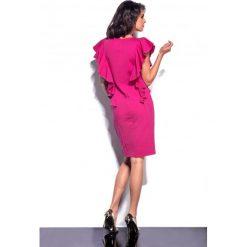 Sukienki: Elegancka sukienka z falbankami fuksja