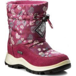 Kozaki dziewczęce: Śniegowce NATURINO – Varna 0013001227.02.9112 Fuxia F. Do Nero S