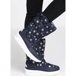Granatowe Śniegowce Arrangement. Szare buty zimowe damskie Born2be, za kostkę. Za 89,99 zł.