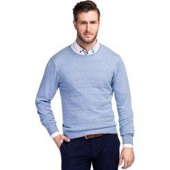 Sweter AGGEO SWNR000202. Niebieskie swetry klasyczne męskie Giacomo Conti, na lato, m, z bawełny. Za 229,00 zł.