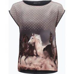 Odzież damska: Marc Cain Sports – T-shirt damski z dodatkiem jedwabiu, szary