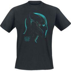 T-shirty męskie z nadrukiem: Black Panther Profile T-Shirt czarny