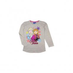 Bluzka dziewczęca z printem, we wzory Kraina Lodu - Frozen. Szare bluzki dziewczęce TXM, z motywem z bajki. Za 19,99 zł.