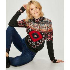 Desigual - Sweter. Szare swetry klasyczne damskie Desigual, l, z bawełny. Za 449,90 zł.