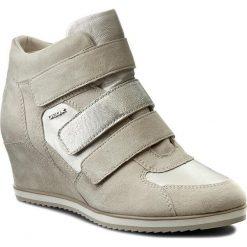 Sneakersy GEOX - D Illusion D D7254D 021BV C0997  Ecri/Platynowy. Szare sneakersy damskie marki Geox, z gumy. W wyprzedaży za 389,00 zł.