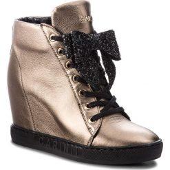 Sneakersy CARINII - B4518  L94-F81-000-B88. Żółte sneakersy damskie Carinii, z materiału. W wyprzedaży za 309,00 zł.